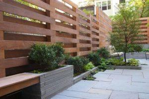 gard modern lemn