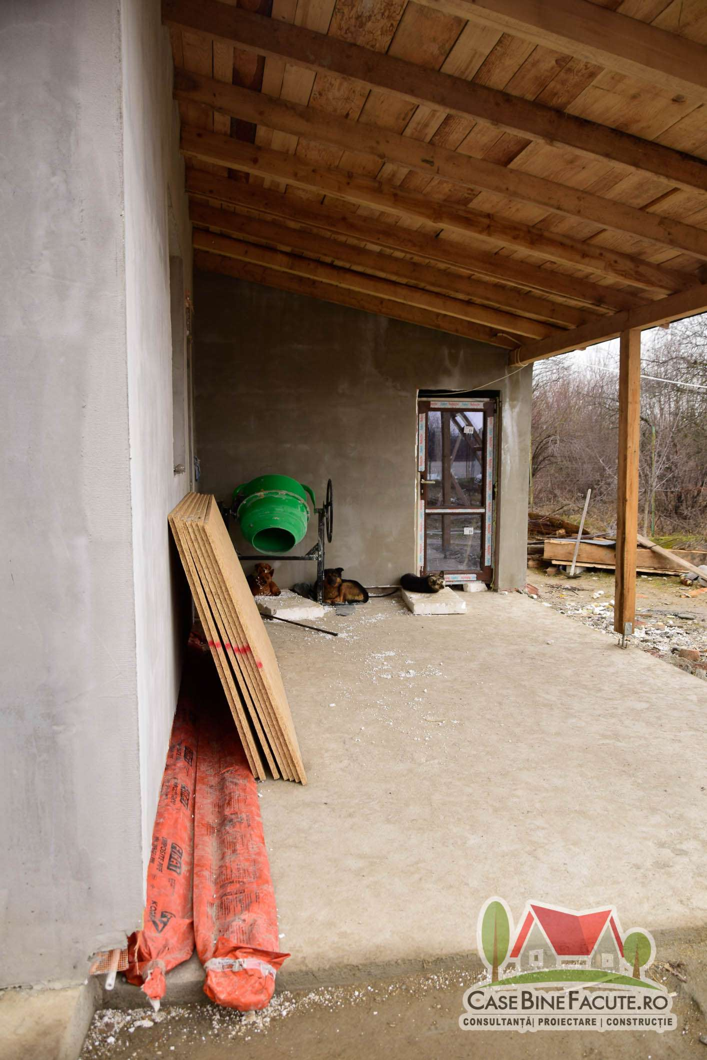 Constructie casa la gri Dragomirești