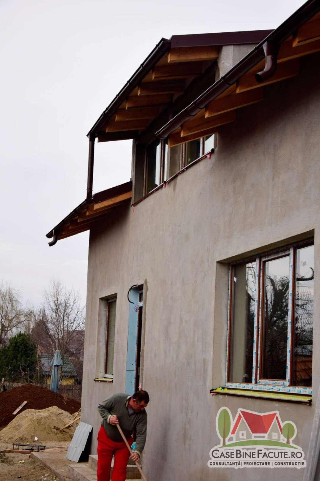 Construcție casă la gri Ghermănești