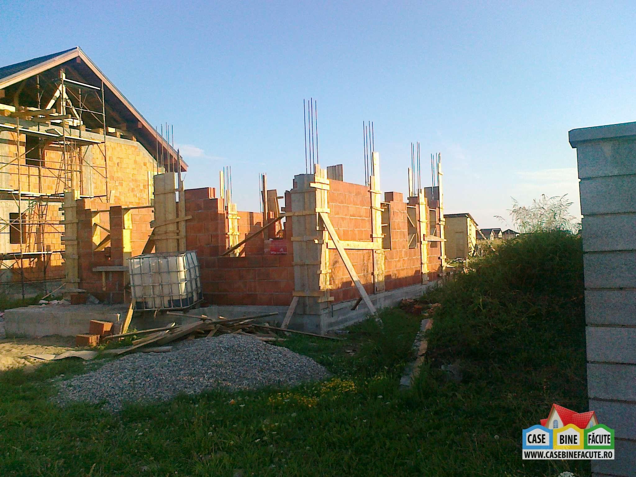 Constructie casa la rosu Timisoara