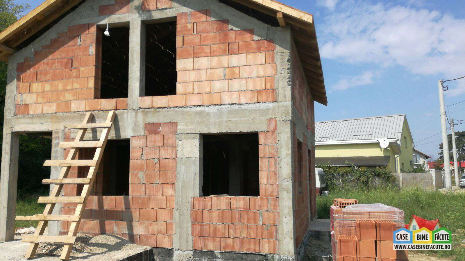 Constructie casa la rosu Deta, Timis