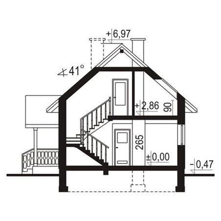 Proiecte Case - Proiect Casă Mică, cu Mansardă, 139 mp, 3 Camere, 2 Băi, ID 5942
