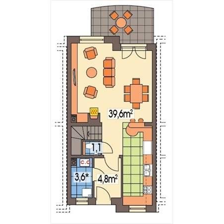 Proiecte Case - Proiect Casă Mică, cu Mansardă, 133 mp, 4 Camere, 2 Băi, ID 5889