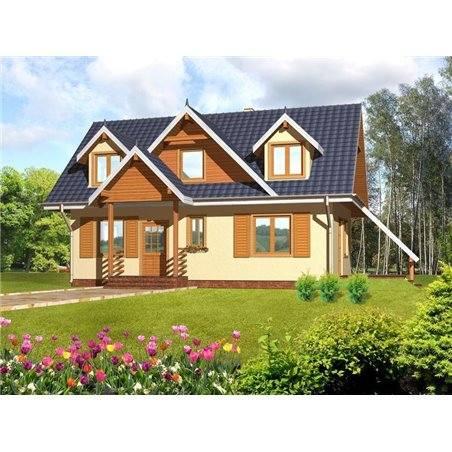 Proiecte Case - Proiect Casă Mică, cu Mansardă, 141 mp, 4 Camere, 2 Băi, ID 5884