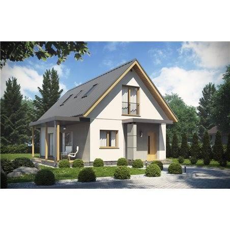 Proiecte Case - Proiect Casă Mică, cu Mansardă, 145 mp, 5 Camere, 2 Băi, ID 5880