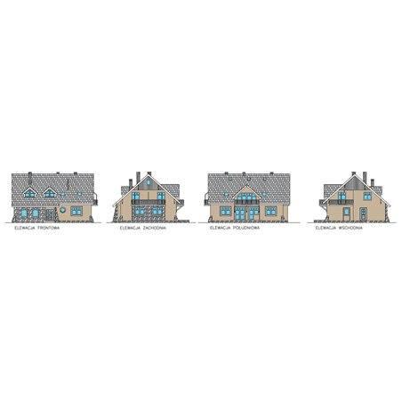Proiecte Case - Proiect Casă de Lux, cu Mansardă, 296 mp, 8 Camere, 7 Băi, ID 1883