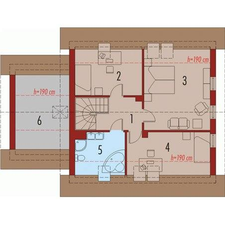 Proiecte Case - Proiect Casă de Lux, cu Mansardă, 200 mp, 4 Camere, 2 Băi, ID 1726