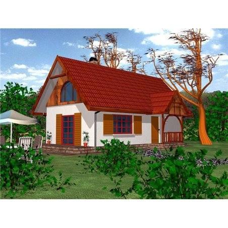 Proiecte Case - Proiect Casă Mică, cu Mansardă, 120 mp, 4 Camere, 2 Băi, ID 1721