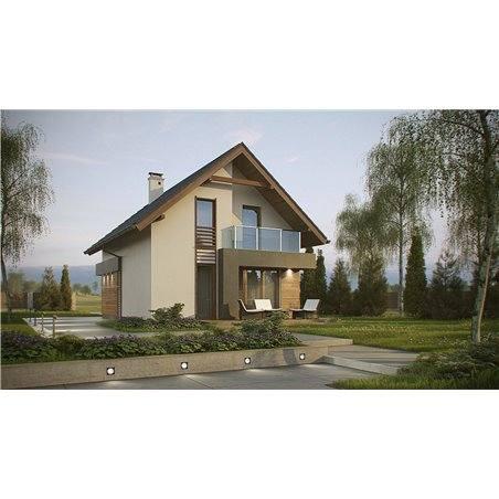 Proiecte Case - Proiect Casă de Vis, cu Mansardă, 155 mp, 5 Camere, 2 Băi, ID 6902