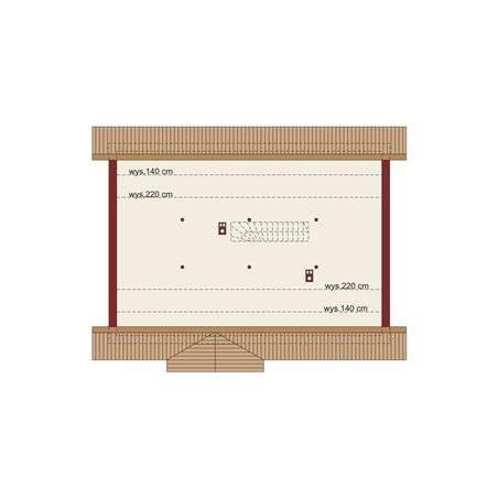 Proiecte Case - Proiect Casă Mică, cu Mansardă, 146 mp, 3 Camere, 2 Băi, ID 6898