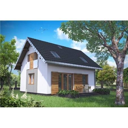 Proiecte Case - Proiect Casă Mică, cu Mansardă, 139 mp, 5 Camere, 2 Băi, ID 1555
