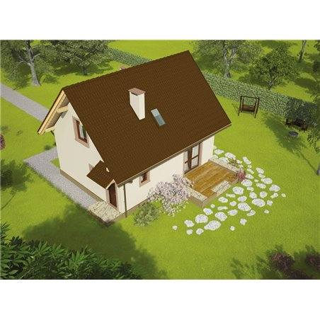 Proiecte Case - Proiect Casă Mică, cu Mansardă, 144 mp, 5 Camere, 2 Băi, ID 1548