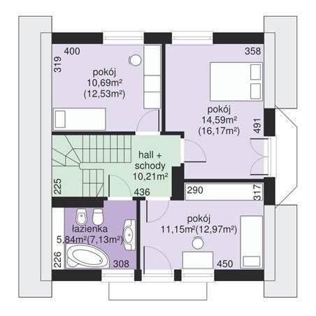 Proiecte Case - Proiect Casă de Vis, cu Mansardă, 158 mp, 5 Camere, 2 Băi, ID 6872