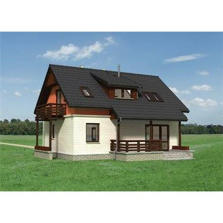 Proiecte Case - Proiect Casă de Vis, cu Mansardă, 156 mp, 5 Camere, 3 Băi, ID 1342