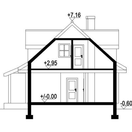 Proiecte Case - Proiect Casă Mică, cu Mansardă, 133 mp, 4 Camere, 2 Băi, ID 1272