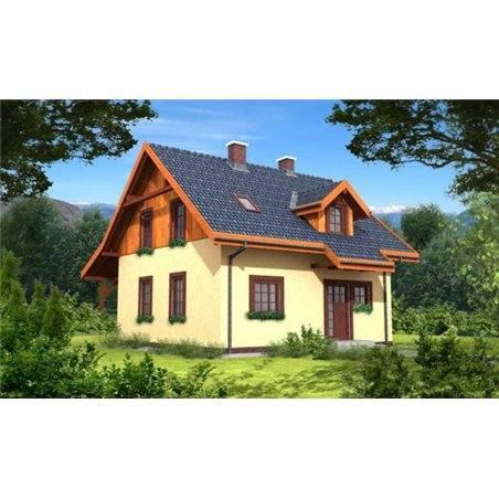 Proiecte Case - Proiect Casă Mică, cu Mansardă, 144 mp, 5 Camere, 2 Băi, ID 1255