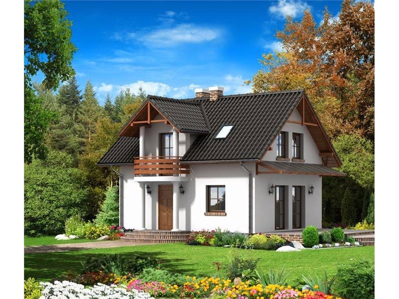 Proiecte Case - Proiect Casă Mică, cu Mansardă, 123 mp, 3 Camere, 2 Băi, ID 1078
