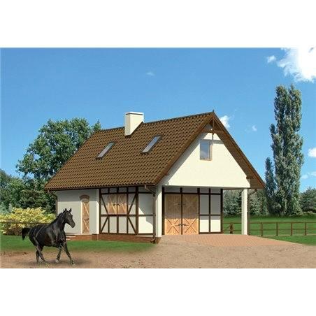 Proiecte Case - Proiect Casă Mică, cu Mansardă, 141 mp, 2 Camere, 2 Băi, ID 1051