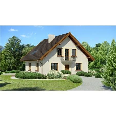 Proiecte Case - Proiect Casă de Lux, cu Mansardă, 200 mp, 5 Camere, 2 Băi, ID 1008