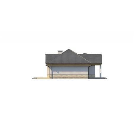 Proiecte Case - Proiect Casă Mică, Parter, 131 mp, 4 Camere, 2 Băi, ID 950