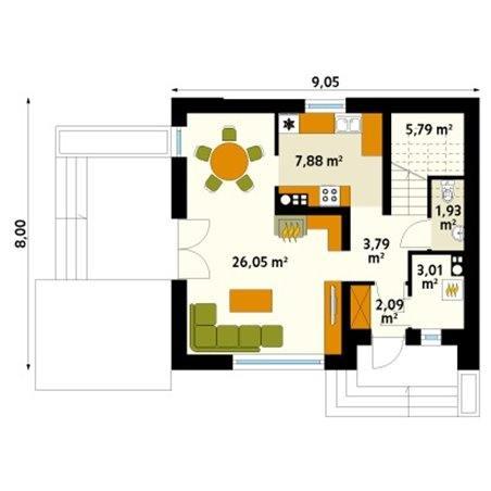 Proiecte Case - Proiect Casă Mică, cu Mansardă, 142 mp, 4 Camere, 2 Băi, ID 865