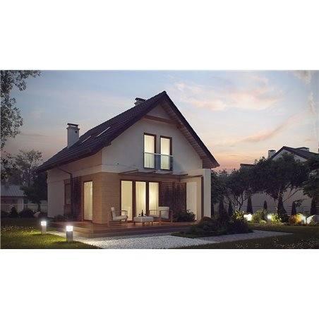 Proiecte Case - Proiect Casă Mică, cu Mansardă, 140 mp, 5 Camere, 3 Băi, ID 845