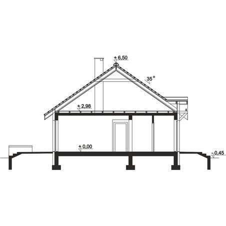 Proiecte Case - Proiect Casă Mică, Parter, 130 mp, 4 Camere, 1 Băi, ID 813