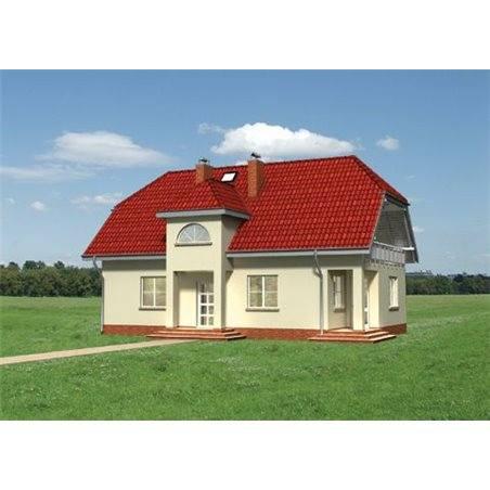 Proiecte Case - Proiect Casă de Lux, cu Mansardă, 201 mp, 6 Camere, 2 Băi, ID 790