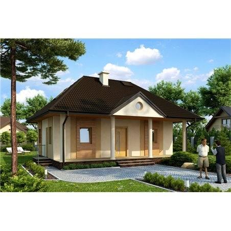 Proiecte Case - Proiect Casă Mică, cu Mansardă, 122 mp, 3 Camere, 1 Băi, ID 6807