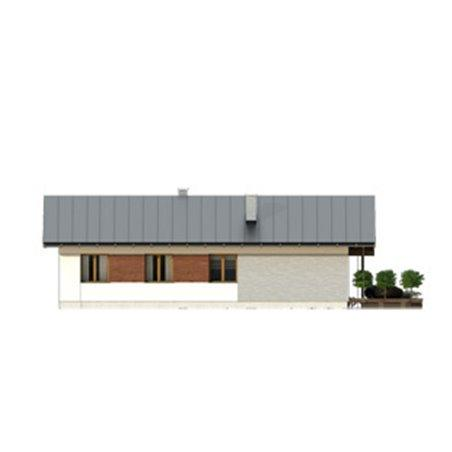 Proiecte Case - Proiect Casă Mică, Parter, 121 mp, 4 Camere, 1 Băi, ID 635