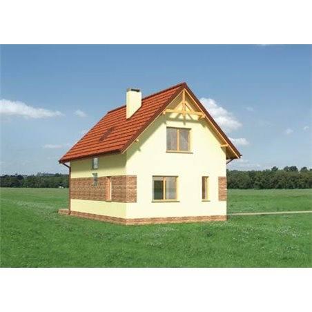Proiecte Case - Proiect Casă Mică, cu Mansardă, 120 mp, 4 Camere, 2 Băi, ID 610