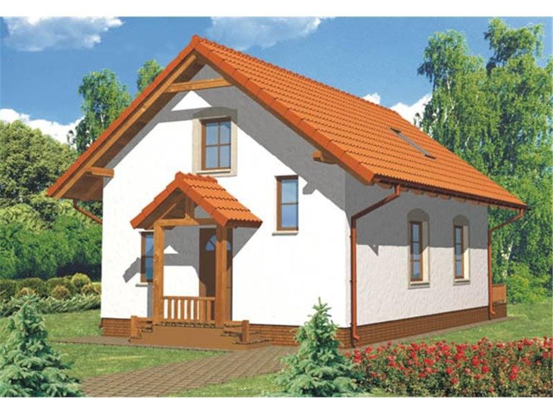 Proiecte Case - Proiect Casă Mică, cu Mansardă, 130 mp, 4 Camere, 2 Băi, ID 599