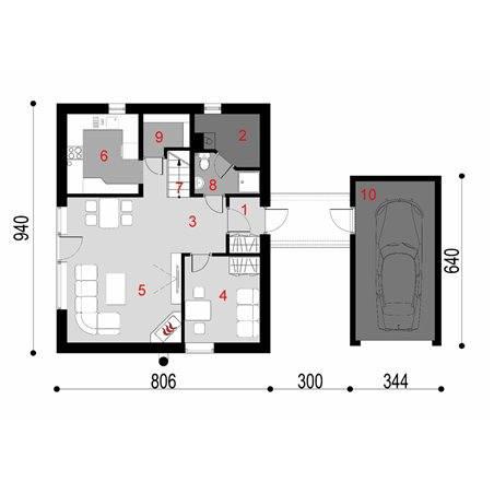 Proiecte Case - Proiect Casă de Vis, cu Mansardă, 150 mp, 4 Camere, 3 Băi, ID 547