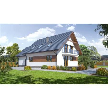 Proiecte Case - Proiect Casă Mică, cu Mansardă, 124 mp, 6 Camere, 2 Băi, ID 6790