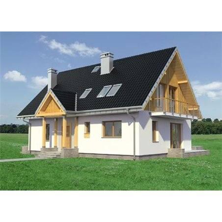 Proiecte Case - Proiect Casă de Lux, cu Mansardă, 200 mp, 6 Camere, 2 Băi, ID 523