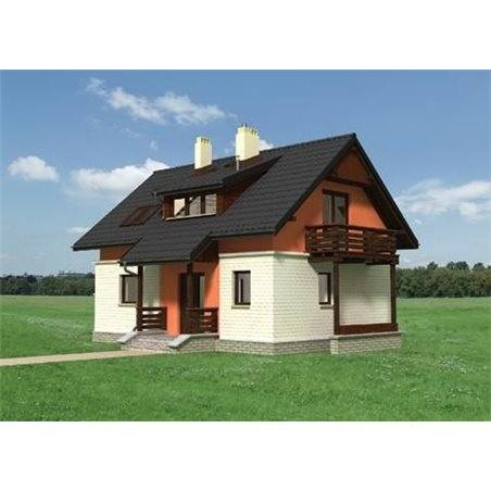 Proiecte Case - Proiect Casă de Vis, cu Mansardă, 158 mp, 5 Camere, 3 Băi, ID 494