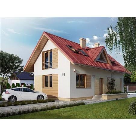 Proiecte Case - Proiect Casă de Vis, cu Mansardă, 157 mp, 4 Camere, 3 Băi, ID 480