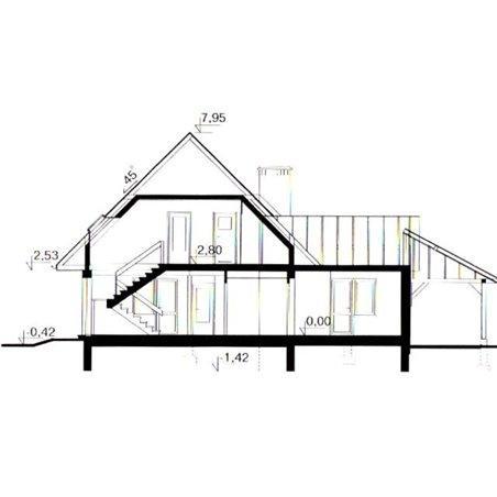Proiecte Case - Proiect Casă de Lux, cu Mansardă, 204 mp, 6 Camere, 3 Băi, ID 423