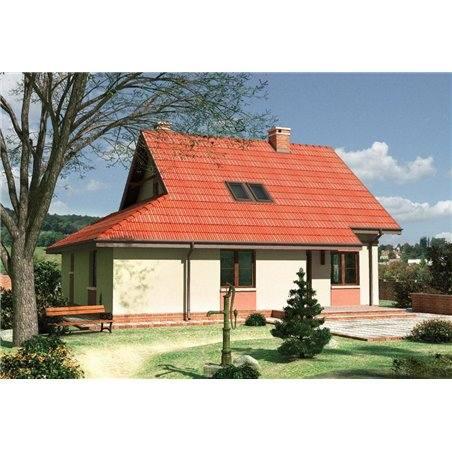 Proiecte Case - Proiect Casă Mică, cu Mansardă, 129 mp, 6 Camere, 2 Băi, ID 6764
