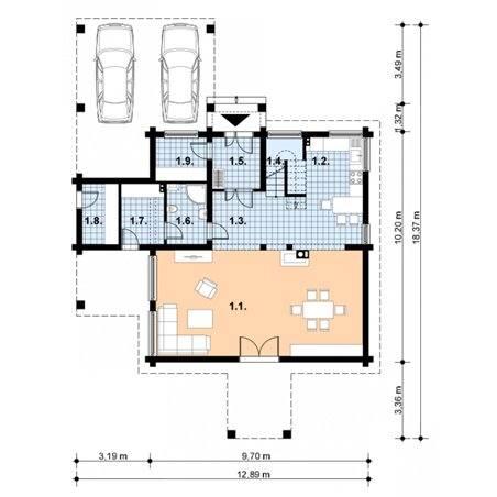 Proiecte Case - Proiect Casă de Lux, cu Mansardă, 201 mp, 4 Camere, 2 Băi, ID 237
