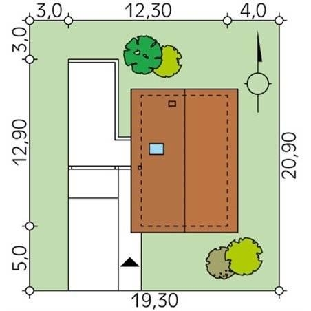 Proiecte Case - Proiect Casă Mică, cu Mansardă, 141 mp, 4 Camere, 2 Băi, ID 218