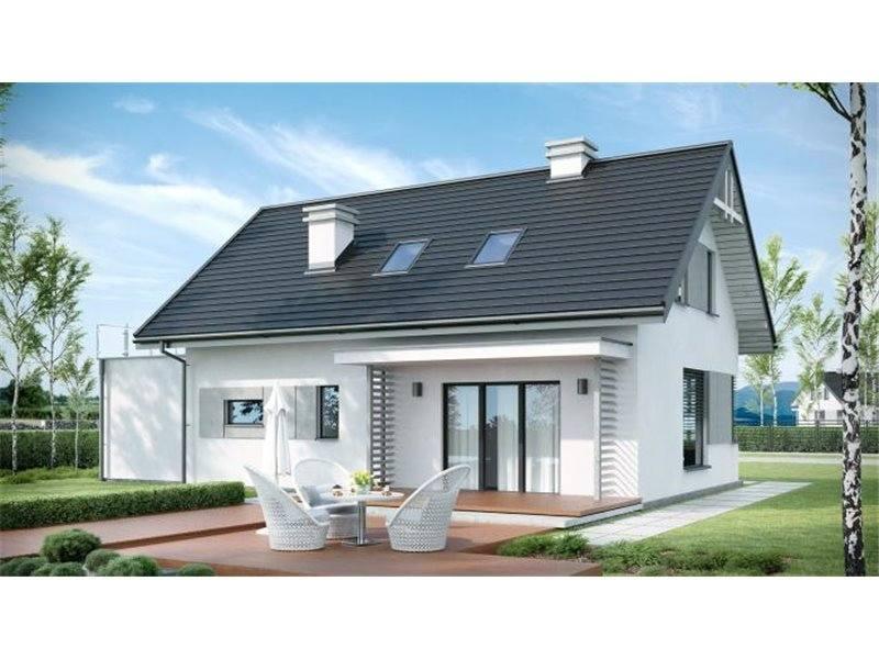 Proiecte Case - Proiect Casă de Lux, cu Mansardă, 200 mp, 5 Camere, 2 Băi, ID 206