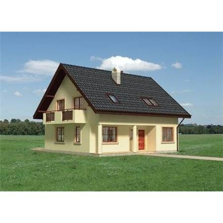 Proiecte Case - Proiect Casă de Lux, cu Mansardă, 201 mp, 5 Camere, 3 Băi, ID 160