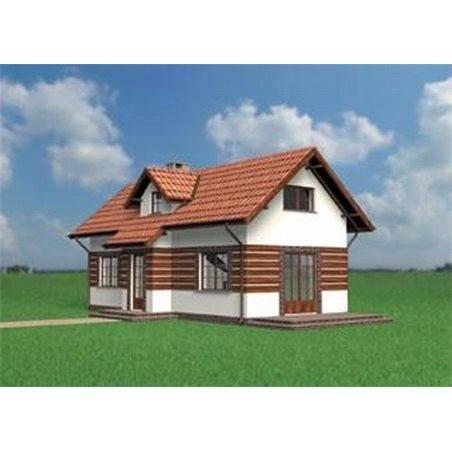 Proiecte Case - Proiect Casă Mică, cu Mansardă, 133 mp, 3 Camere, 2 Băi, ID 158