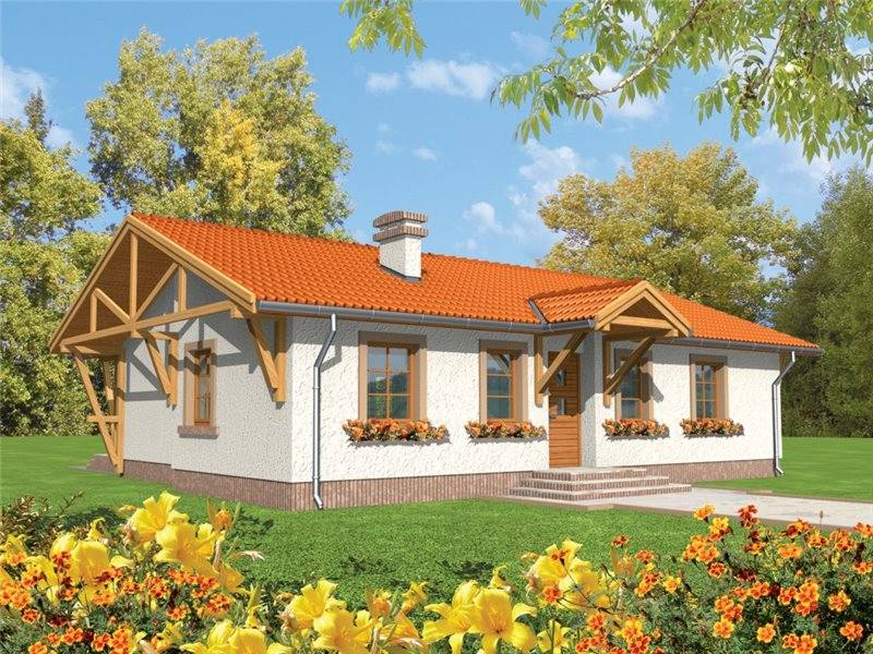 Proiecte Case - Proiect Casă Mică, Parter, 131 mp, 4 Camere, 2 Băi, ID 142