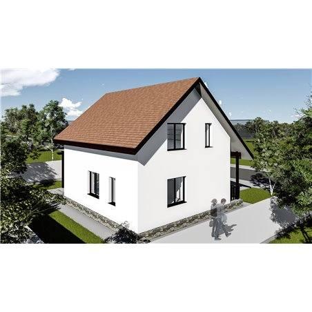 Proiecte Case - Proiect Casă Mică, cu Mansardă, 141 mp, 4 Camere, 2 Băi, ID 7196