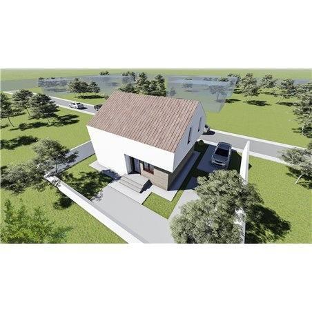 Proiecte Case - Proiect Casă Mică, cu Mansardă, 149 mp, 4 Camere, 2 Băi, ID 7186
