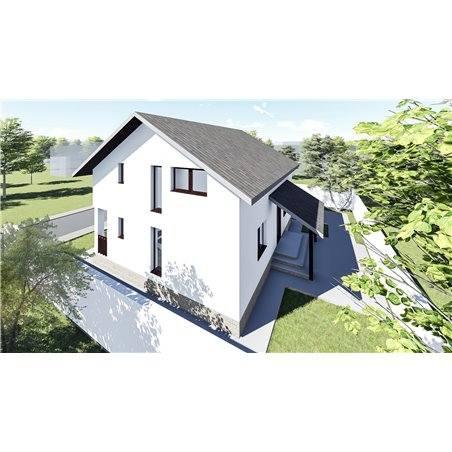 Proiecte Case - Proiect Casă Mică, cu Mansardă, 137 mp, 5 Camere, 2 Băi, ID 7184