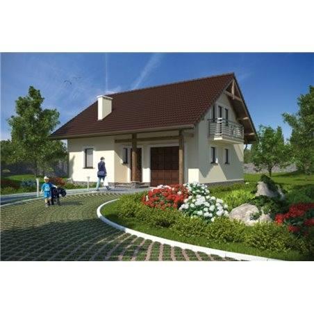 Proiecte Case - Proiect Casă Mică, cu Mansardă, 132 mp, 4 Camere, 2 Băi, ID 3682