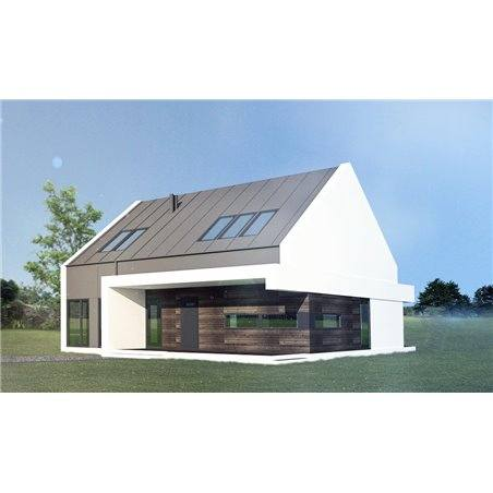 Proiecte Case - Proiect Casă de Lux, cu Mansardă, 200 mp, 5 Camere, 3 Băi, ID 3647